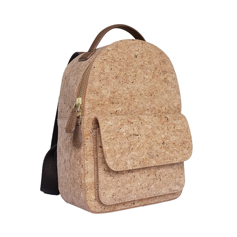 KAOGE Vegan Natural cork Vintage Backpack Luxury Fashion Women Stylish Wood Bag стоимость