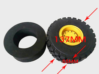 1PC 137mm Simulation Car Tires Mini Tire Small Tyres Plastic Wheels for Engineering Vehicle/ Forklift/Bulldozer/Loader Model