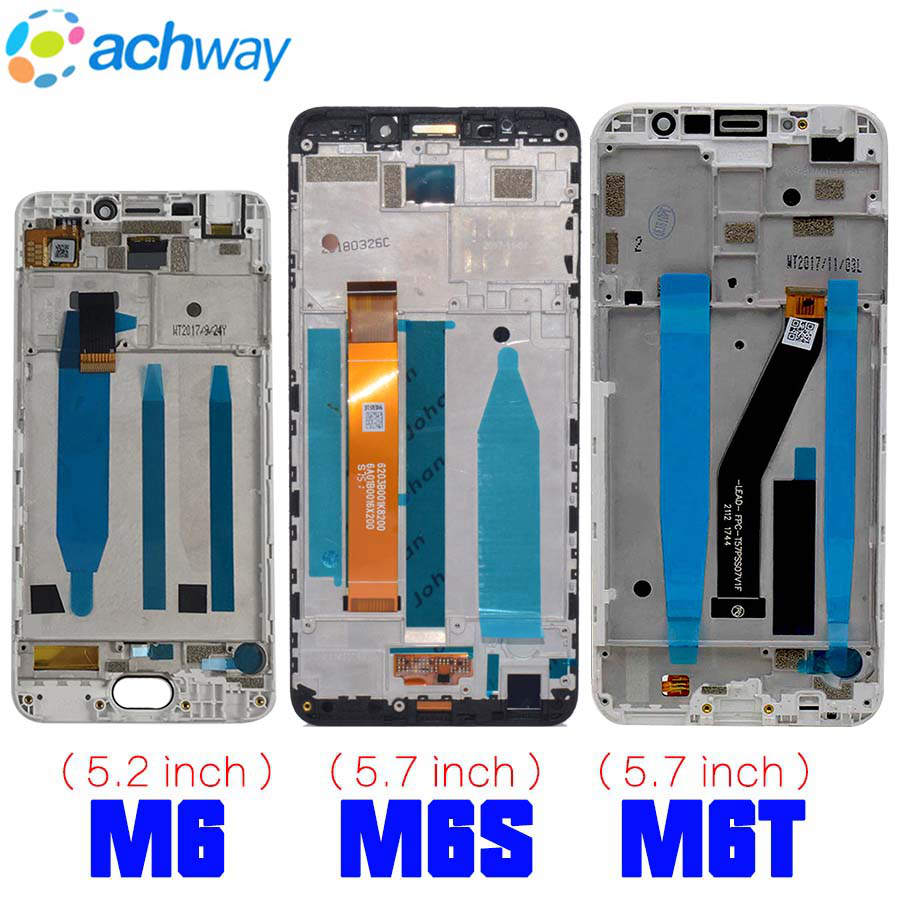 Meizu M6 LCD Display Touch Screen Digitizer M711H M711M M711Q M6S LCD M712H M712Q For 6T MEIZU M6T LCD M811Q Screen Replacement