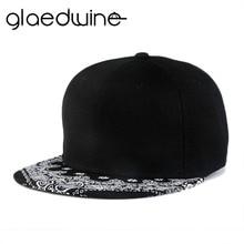 Glaedwine Free Shipping 2017 New Mens Snapback Hats Famous Black Gorras Hip hop Man Snapbacks Cap For Adult hip hop caps dad hat
