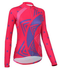 2016 Long sleeve red Cycling jersey Women bicycle Cycling clothing Bike jacket