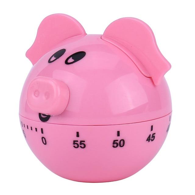 Hot Sale Criativo Mini Pink Pig Forma Temporizador Gostoso Cozinha cozinha cozinha Lembretes Temporizador Despertador Acessórios de cozinha #10 t