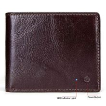 Smart Wallet RFID Secure Men Genuine Leather Purse with Alarm GPS Map Bluetooth Coin Bag