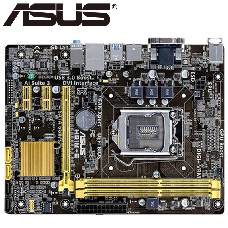 Asus H81M-E Desktop Motherboard H81 Socket LGA 1150 i3 i5 i7 DDR3 16G Micro-ATX UEFI BIOS Original Used Mainboard Hot Sale asus h61m e original used desktop motherboard h61 socket lga 1155 i3 i5 i7 ddr3 16g micro atx on sale