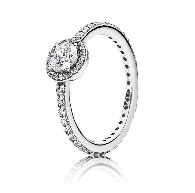 cc2bc1160 Authentic 925 Sterling Silver Pandora Ring Classic Elegance With Crystal  Rings For Women Wedding Party Gift Fine Jewelry