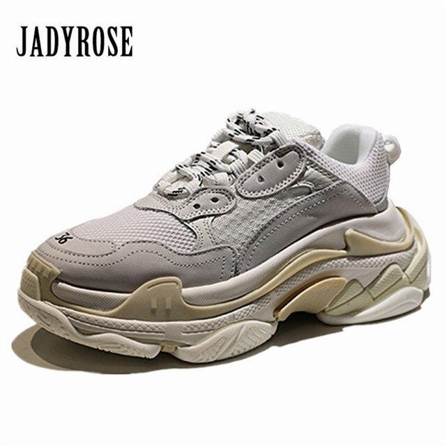 Jady Rose blanc baskets femmes plate-forme décontracté appartements Creepers Tenis Feminino Espadrilles Chaussures Femme amoureux Chaussures