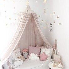 240 см детская комната украшение для дома кровать занавеска круглая кроватка сетка детская палатка хлопок висящий купол детская москитная сетка реквизит для фотосессии