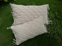 Macrame handmade cushion cover Bohemian throw pillow cover wedding decorative cushion sham custom size and color