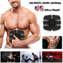 Professional Unisex EMS Muscle Training Gear Fitness Abdominal Arm Smart Body Building Kits Abs Toner