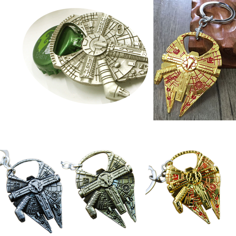 Hot Sale Bottle Opener with Star Wars Spaceship Keychain Cool Car Key Chains Rings Holder
