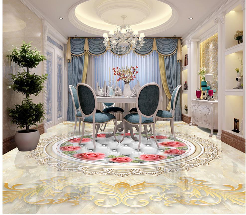 € 19.29 65% de réduction Pierre parquet carrelage 3D salon sol pvc auto  adhésif papier peint salle de bain étanche papier peint décoration de la ...
