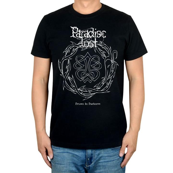 14 видов иллюстрации Райский Lost Rock брендовая футболка панк готический Металл черные рубашки уличная Harajuku искусство картины camiseta - Цвет: 10
