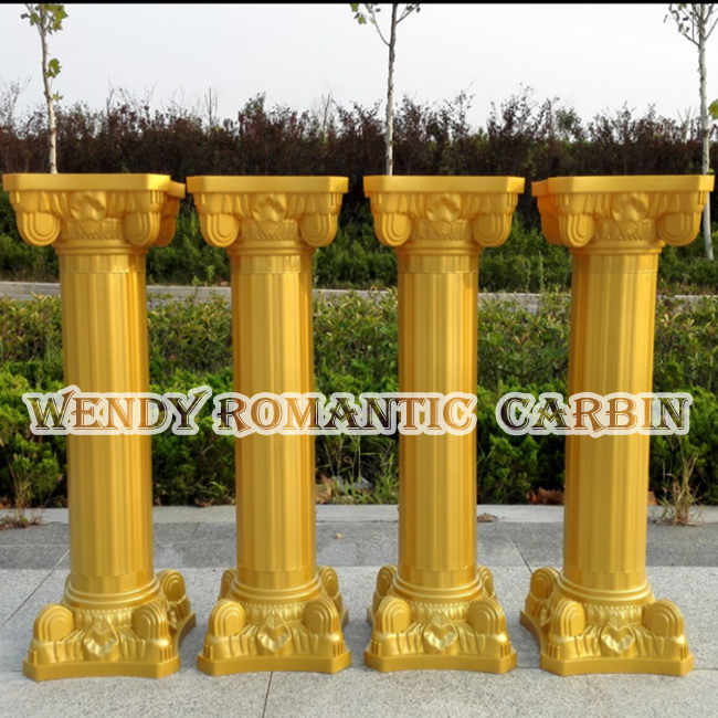 Wedding Flower Pillars: 90cm Tall Gold Wedding Plastic Column Roman Pillars Flower