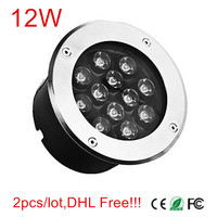2 pcs 12 W LED Light Underground AC85 265V/DC12V/DC24V luz Ao Ar Livre Super Poder DHL/Fedex Livre o navio!!!| | |  -