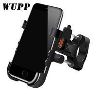 WUPP ユニバーサル qc 3.0 Usb オートバイの充電器電話ホルダー防水 12 12v バイク携帯電話マウント電源アダプタハンドル|オートバイ 電子機器 アクセサリ|   -