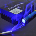 B012 High power 450nm Blue laser pointer flashlight burn match cigarretes include 5 star caps and charger box