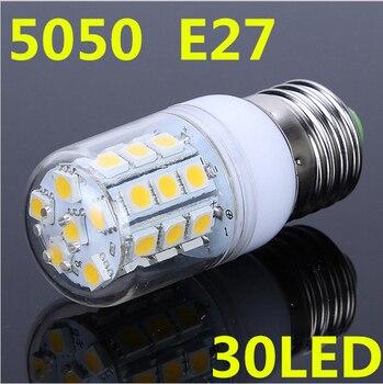 E14 E27 G9 5W 360 degree 30 SMD 5050 LED Light Bulb White Warm White light 220V 360Lm LED Corn Light spotlight bulbs With Cover