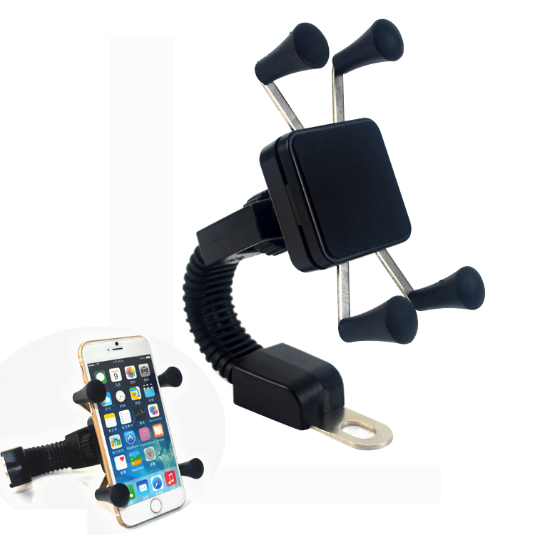 KHISOL Universal Motorcycle Phone Holder Rear View Mirror Stand For iphone 8 7 6S Plus Motorbike Mount Bracket for Cellphones