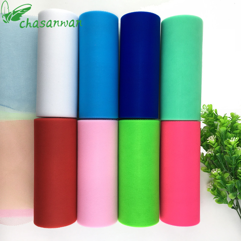 Baby Show Tulle Roll 15cm 25Yards Roll Fabric Spool Tutu Party Birthday Gift Wrap Wedding Decoration Party Favors Event Supplies