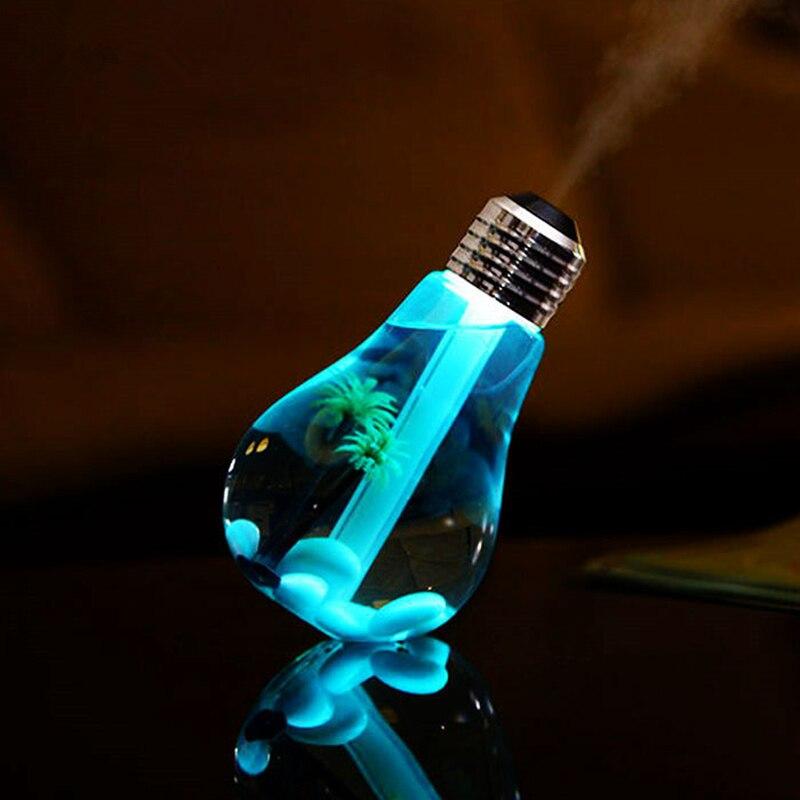 400ml lâmpada led umidificador de ar ultra-sônico para casa difusor de óleo essencial atomizador purificador de ar névoa maker com luz da noite led