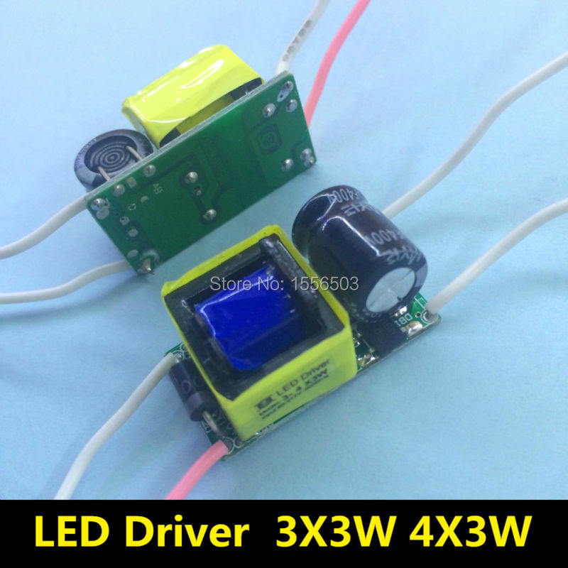 2 Pcs/Lot 3-4X3W LED Driver lamp transformer for 3*3w 4*3w E27 GU10 E14 9W 12W AC 220V 600mA 3W Constant Current Driver