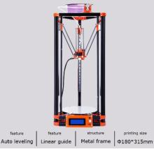 2017 LCD Diy 3d Metal Printer, Large Printing Size 3d-Printer Delta Kossel 3d Printer Kit