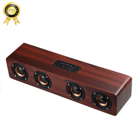 Classic 4 Speaker Bluetooth Speakers Wood Speaker Wireless For Computer With Fashion Design Bluetooth Hifi Bass