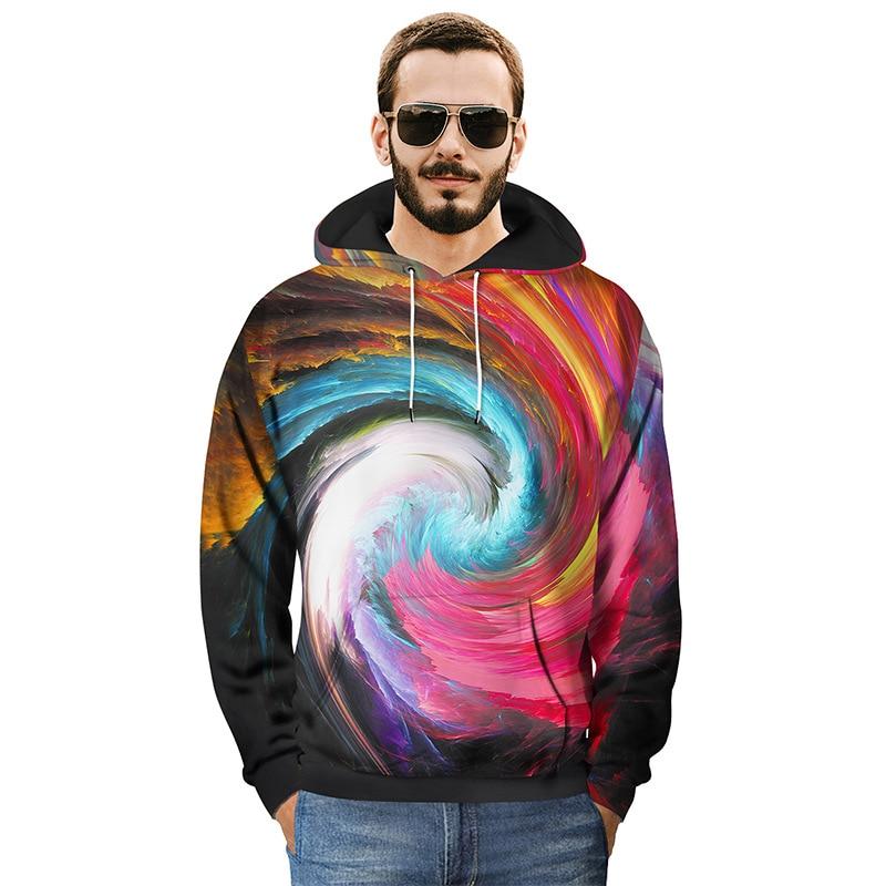 Harajuku Northern Light Paisley 3D Print Hoodies Women Men Cool Hip Hop Streetwear Pullovers Sweatshirts 2018 Mens Tops Clothes in Hoodies amp Sweatshirts from Women 39 s Clothing