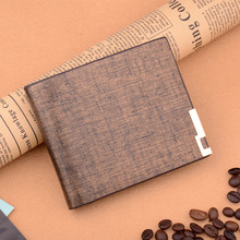 Men's Wallet Short PU Leather Men Wallets Fashion Coin Pocket Card Holder Men Purse Simple Golden High Quality Male Wallet new look minimalist men women wallet unisex male female coin purse pouch holder pocket simple casual designer short style canvas