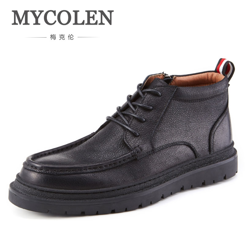 MYCOLEN Handmade Men Boots Cow Leather Men Ankle Boots Luxury Designers Fashion British Style Boots Top Quality For Men ShoesMYCOLEN Handmade Men Boots Cow Leather Men Ankle Boots Luxury Designers Fashion British Style Boots Top Quality For Men Shoes