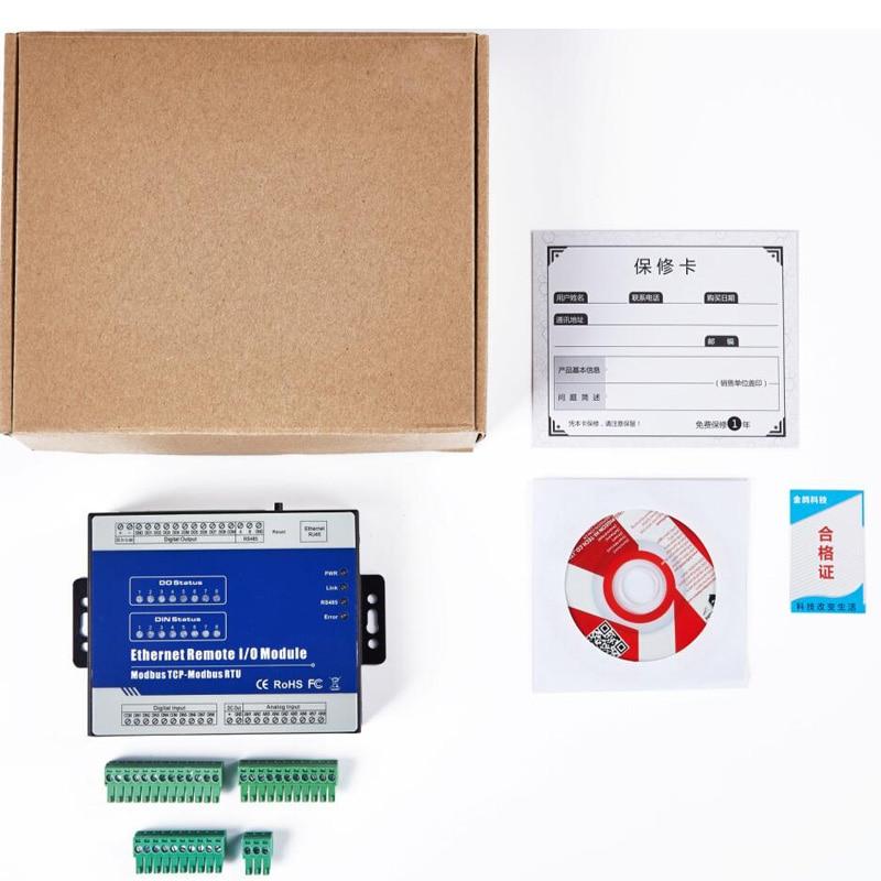 US $198 45 |Modbus tcp server Ethernet Remote IO  Module(8DI+8DO+8AI+RJ45+RS485) Extensible Module supports standard Modbus  TCP M160T on Aliexpress com