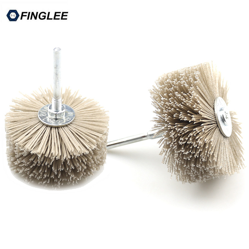 4 piece OD 85mm Drill Abrasive Wire Nylon Radial Polishing Brush for Wood Furniture Mahogany Finishing 1pcs lot j112y imitation of brass wire brush for cleaning and polishing wooden brush diy using high quality on sale