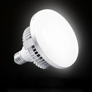 Image 4 - Metallo 85 w 5500 k 220 v LED Photo Studio di Illuminazione Video Lampada a Luce Diurna E27 Lampadina per Studio Fotografico Softbox luce stroboscopica