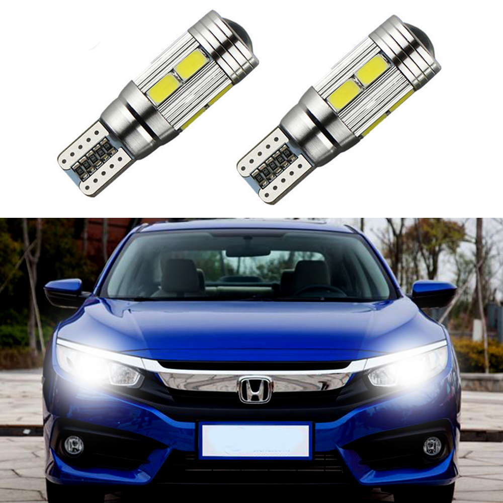 2 x t10 led w5w car led auto lamp 12v light bulbs with projector lens for honda civic crv accord. Black Bedroom Furniture Sets. Home Design Ideas