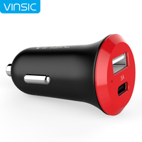 Vinsic C5 Mini Portable USB Type C 3A Car Charger Adapter For Nexus 6P Nexus 5X