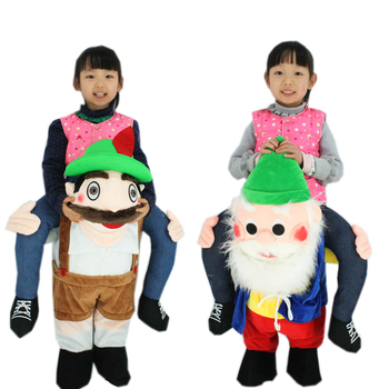 Children Christmas Santa Claus costume Novelty Oktoberfest Costume Mascot Unisex Ride on Beer Guy Costumes Kid Funny Fancy Dress