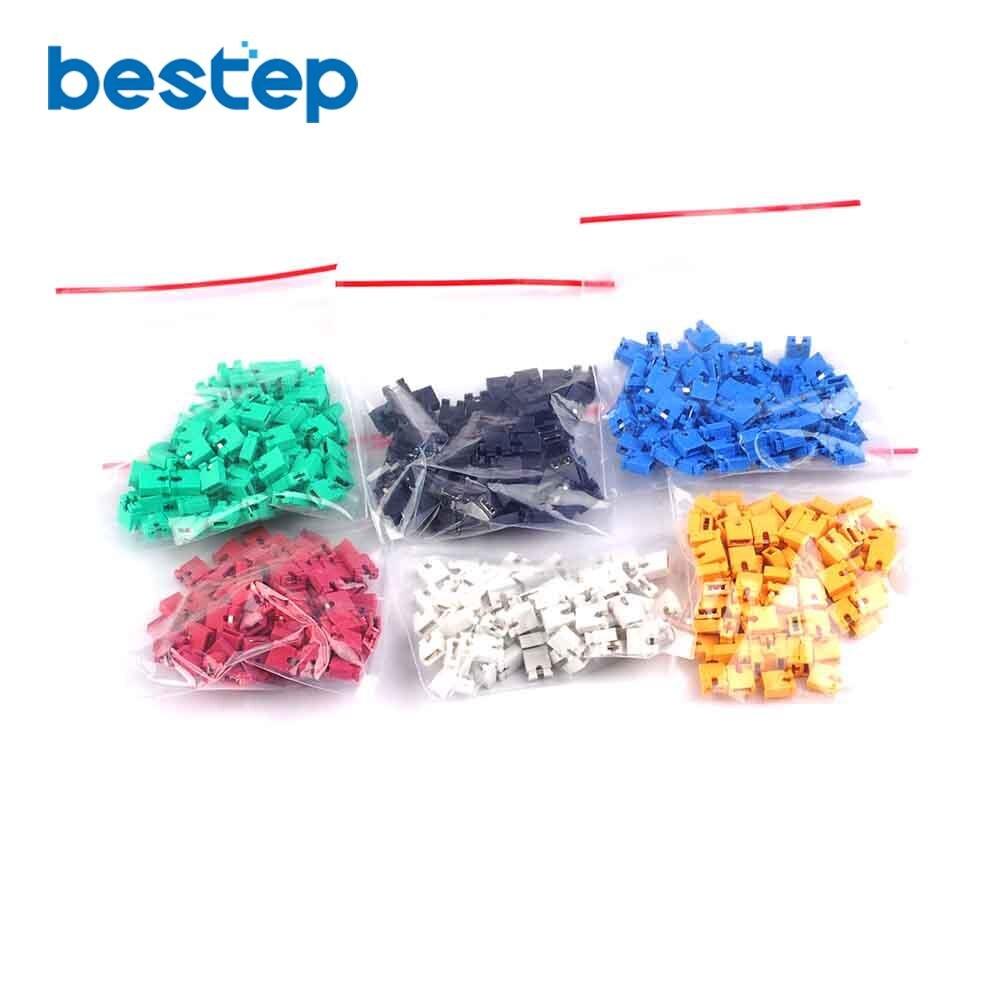 120pcs 6 Color Each Color 20 PCS 2.54mm Standard Circuit Board Jumper Cap Shunts Short Circuit Cap