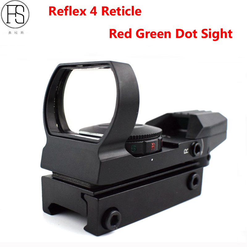 Optics Riflescope Reflex 4 Reticle Holographic Sights Tactical Reflex Sight Red Dot Hunting Red Green Dot Sight 11mm/20mm Rail