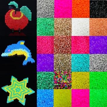 LNRRABC Fashion 1000pcs Candy Color 5mm Plastic Hama Perler Beads For Educate Kids Child Gift Handmade