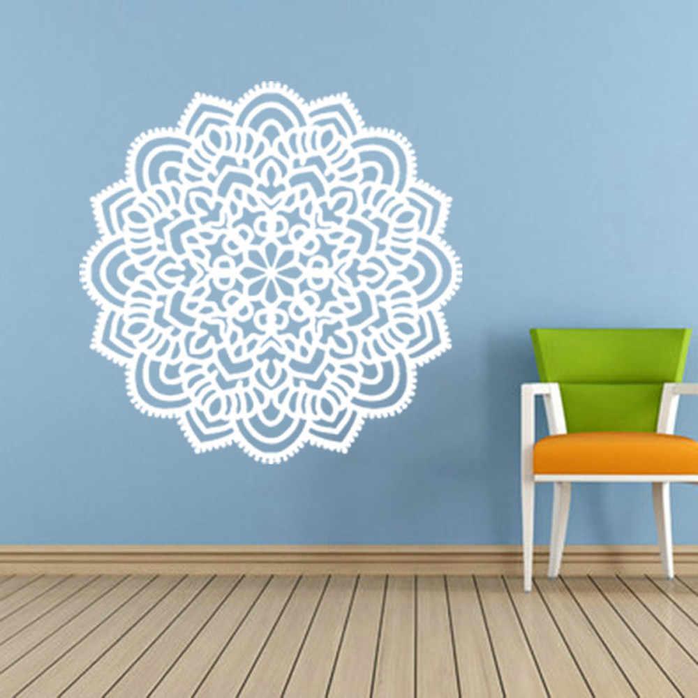 3d dán tường Áp Phích Ấn Độ Mandala Flower Phòng Ngủ Vinyl Tường Decal Nghệ Thuật phông nền Bức Tranh Tường phòng khách cổ điển trang trí nội thất