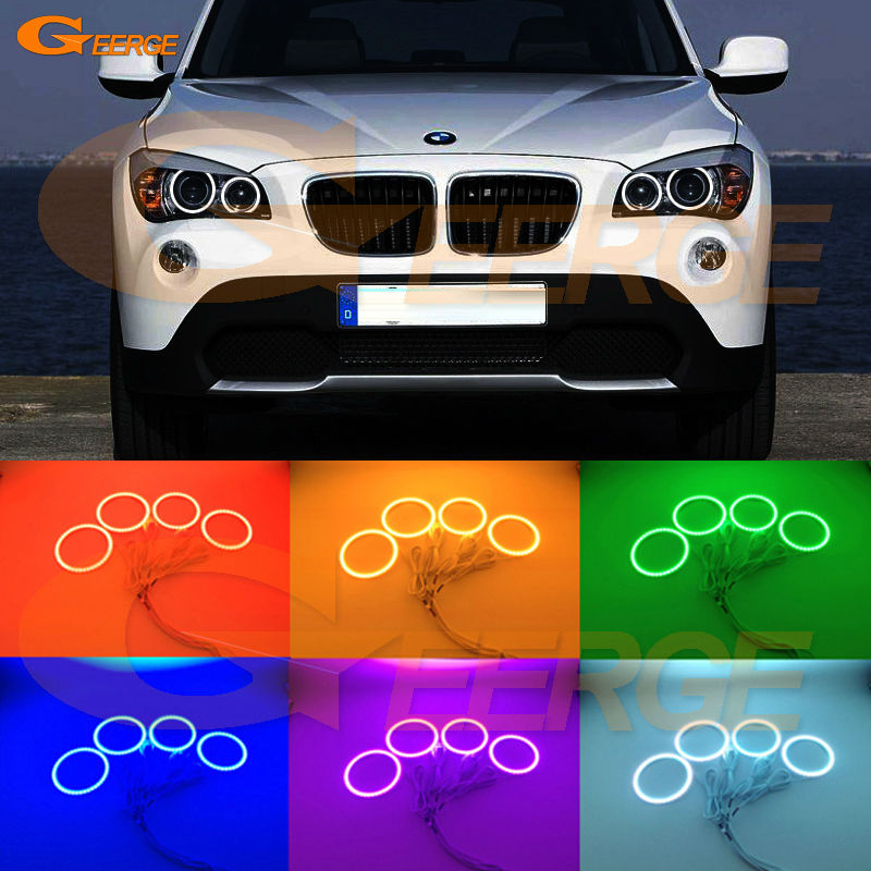 For BMW X1 E84 2010 2011 2012 2013 2014 2015 Xenon headlight Excellent Multi-Color Ultra bright RGB LED Angel Eyes kit for lifan 620 solano 2008 2009 2010 2012 2013 2014 excellent angel eyes multi color ultra bright rgb led angel eyes kit