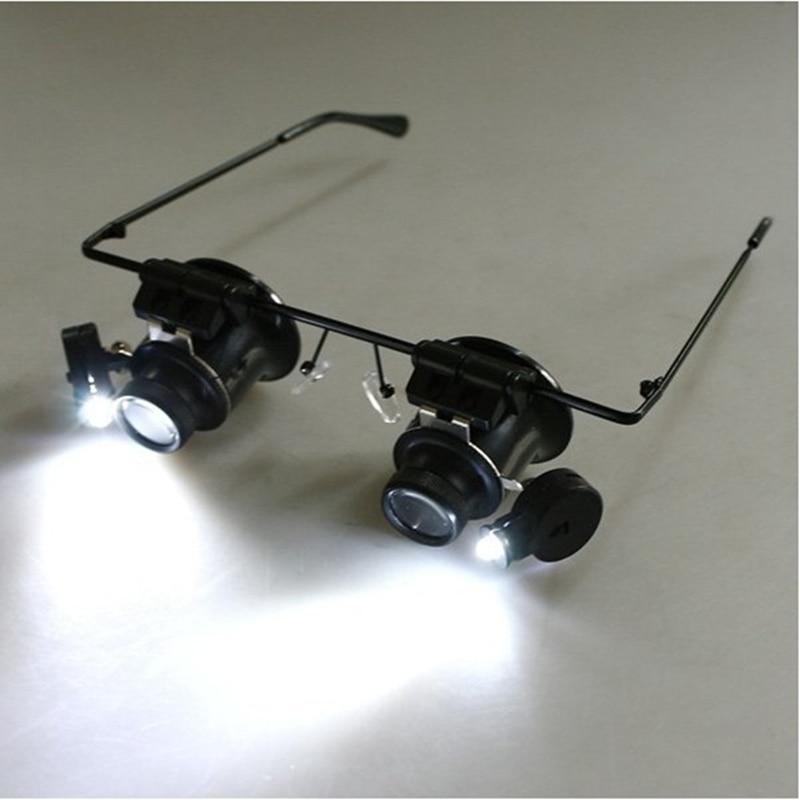 20x lupe mit led-leuchten uhrmacher lupe binokularlupe uhrschalen Schmuck repair tool herramientas