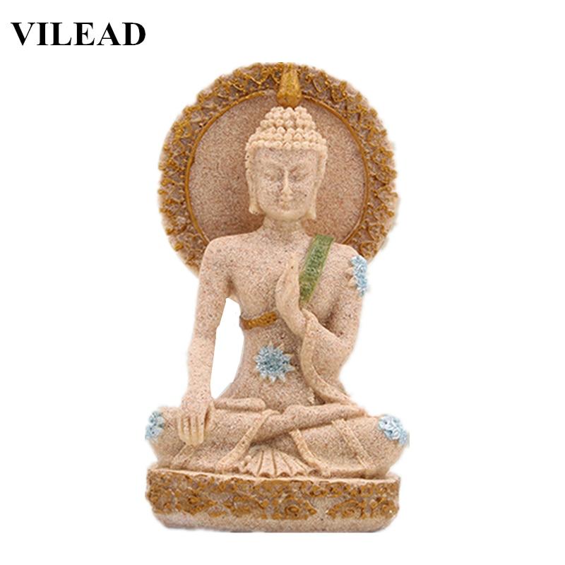 Antique Table Decor Buddha Statue Collectable Religious: VILEAD Thailand Buddha Figurines Sand Stone Religious