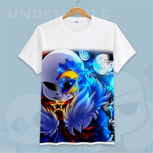summer brand men women kids t shirt game undertale upside sans