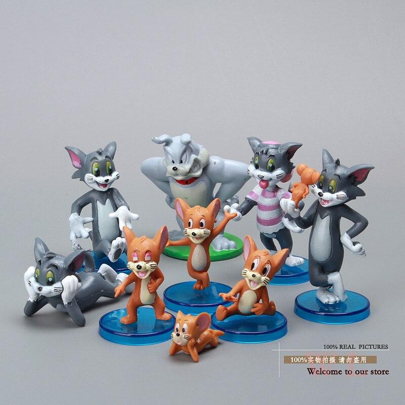 <font><b>Cute</b></font> <font><b>Cartoon</b></font> <font><b>Tom</b></font> <font><b>and</b></font> <font><b>Jerry</b></font> <font><b>PVC</b></font> <font><b>Action</b></font> <font><b>Figure</b></font> Model Toys Dolls 9pcs/set Classic Toys Christmas Gifts RT546