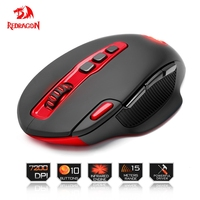 Redragon USB Wireless Gaming Mouse 7200DPI 10 Buttons Ergonomic For 2 4G Computer Accessories Programmable Mouse