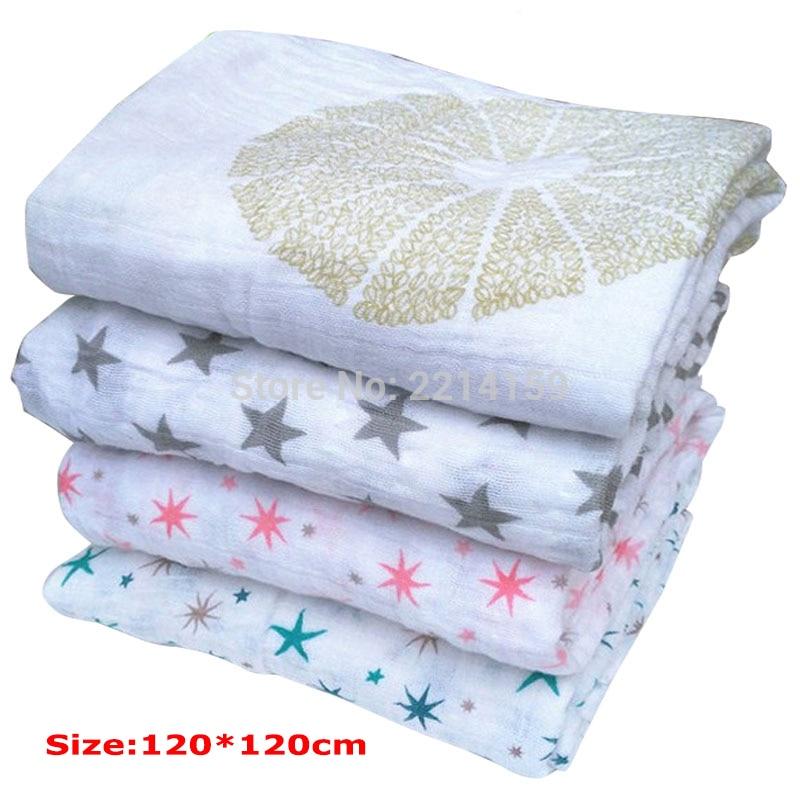 Aden Anais multifunktionella kuvert för nyfödda mottar filtar sängkläder spädbarn bomullsvadd handduk muslin baby filt