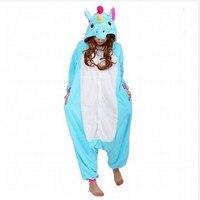 Wholesale Unisex Adult Woman Man Flannel Pajamas Suit Cartoon Animal Cosplay Costume Unicorn Onesie Sleepwear Jumpsuits
