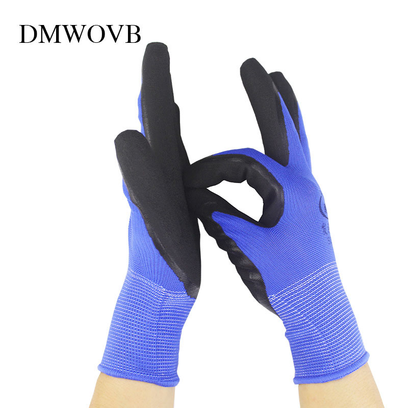 1 Pair Garden Gloves For Garden Digging Planting Water Proof House Work Glove Double Grumming Durable Use Coated Safety Gloves