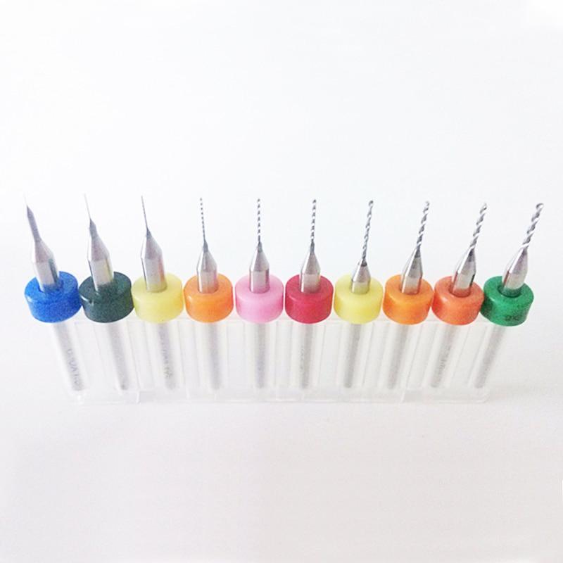 10pcs 0.3mm~1.2mm hss cnc Carbide drills Woodworking mini drill bit set tools pcb drill press micro brocas dremel ferramentas